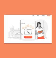 creative website template of language translator vector image