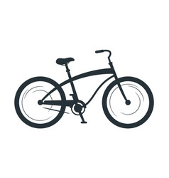 Cruiser bicycle silhouette vector