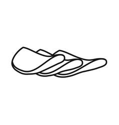 Design sausage and slice symbol graphic vector