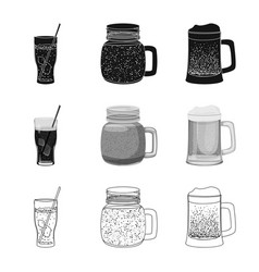 Drink and bar icon set of vector