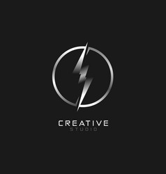 Electric logo thunder and bolt lightning icon vector