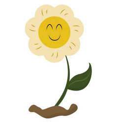 Emoji a smiling yellow flower or color vector