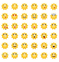 emoticons sun vector image