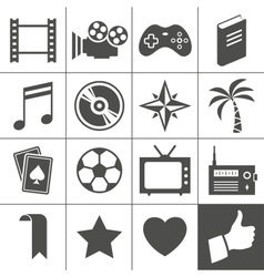 Entertainment icons vector