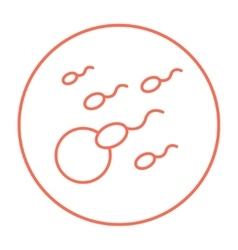 Fertilization line icon vector