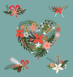 Festive floral compositions vector image