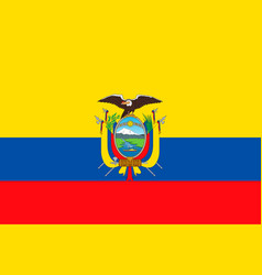 flag of ecuador vector image