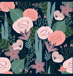 Floral seamless pattern design for vector