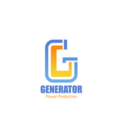 g letter icon for power production company vector image