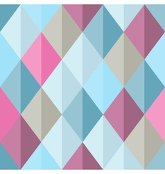Geometrical seamless pattern with bright pink and vector