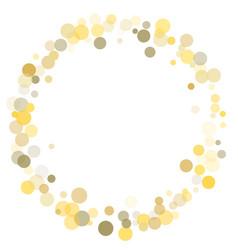 golden dot confetti on white background vector image