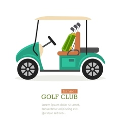 Golf Club Symbol Banner vector image