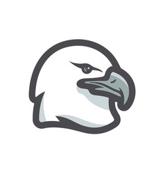 graceful eagle head icon cartoon vector image