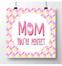 Greeting card-happy mothers day vector