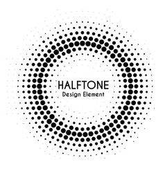 halftone circle with text round dotted vector image