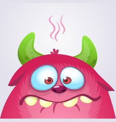 Happy cartoon monster vector