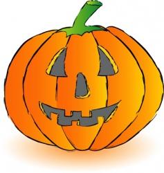 Happy pumpkin vector