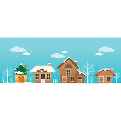 Houses Panorama vector image