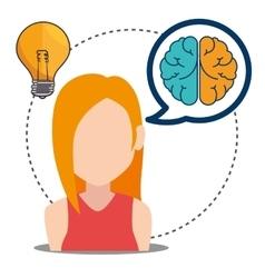 Human brain creative ideas vector
