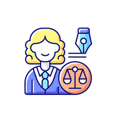 Law department rgb color icon vector