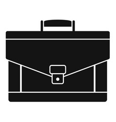leather briefcase icon simple style vector image