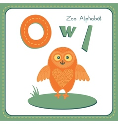 Letter O - Owl vector