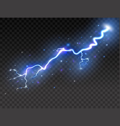 lightning on transparent background realistic vector image