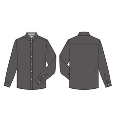 long sleeve shirts fashion flat sketch template10 vector image