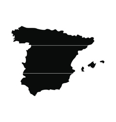 Map of Spain simple icon vector