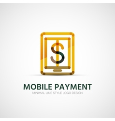 Mobile payment company logo business concept vector