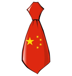 Necktie in national colours of China vector