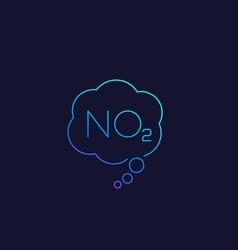 No2 nitrogen dioxide linear icon vector