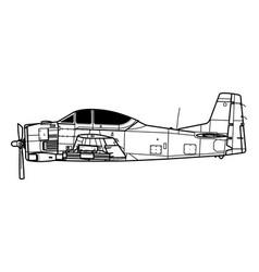 North american t-28 trojan vector