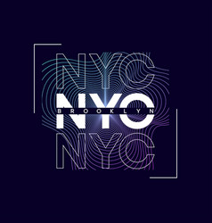 Nyc new york city t-shirt design with abstract vector