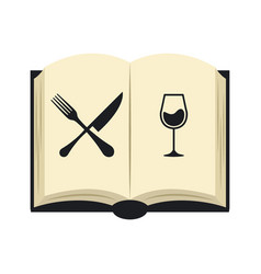 Open book restaurant menu vector