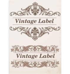 Ornate frames and labels elements vector image