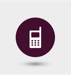 Phone icon simple vector
