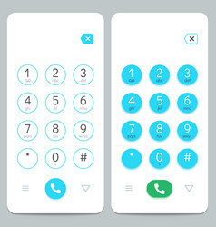 phone keypad smartphone screen keyboard with vector image