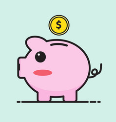 Pig bank cartoon vector