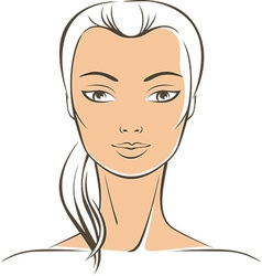 pure female face vector image vector image