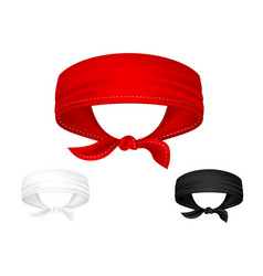realistic head bandanas isolated on white vector image