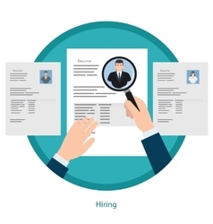 Recruitment and resume picking concept vector image
