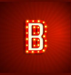 Retro style letter b vector