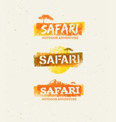 Safari outdoor adventure design elements vector