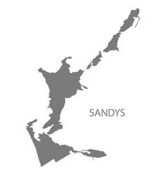 Sandys bermuda map grey vector