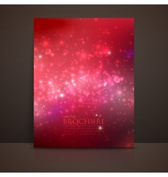 scarlet red sparkling background with glowing vector image