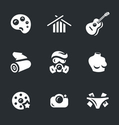set of art icons vector image