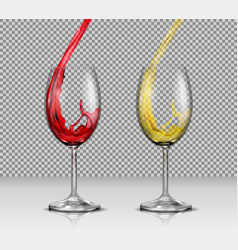 Set of of transparent glass vector