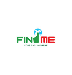 simple and modern find job logo vector image