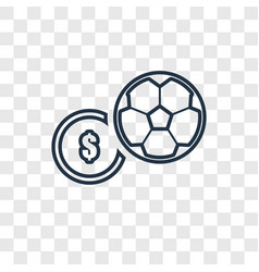 soccer ball concept linear icon isolated on vector image